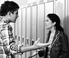Couple Fighting at School